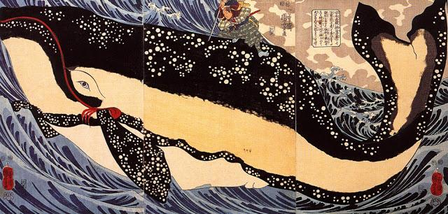 Musashi on the back of a whale