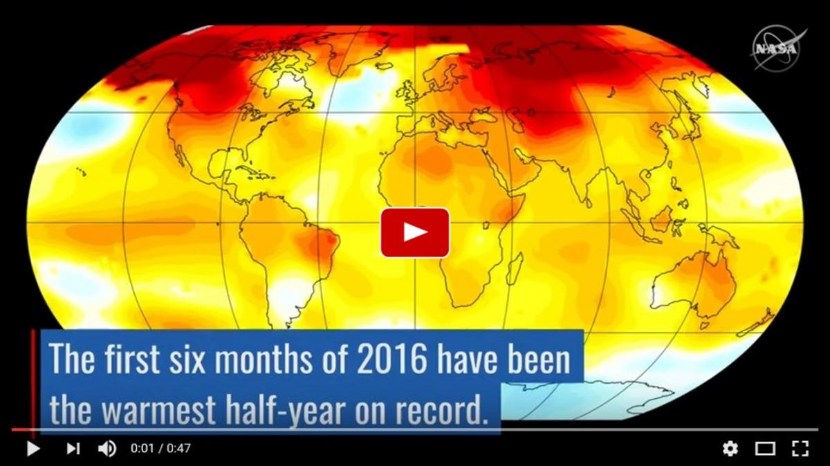 Nasa climate trends 2016